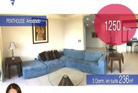 Alquiler Penthouse AMOBLADO con 3 dormitorios Suite