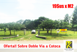 Sobre Doble Via a Cotoca 46.000 M2