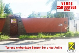 Lote Banzer 3er y 4to Anillo