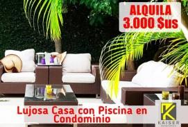 Bella Casa con Piscina en Condominio