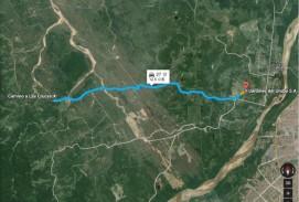 A 12 kms del puente del Urubo Camino a Las Cruces