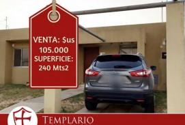 VENTA.- 105,000 $us CASA 3 DORM. COND CERRADO ZONA NORTE