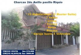 Amplia Casa en Venta o Alquiler Charcas Pasillo Riquio 2do Anillo