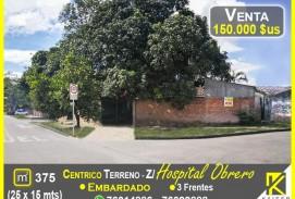 CÉNTRICO TERRENO CERCA AL HOSPITAL OBRERO