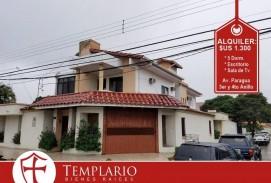 Casa en Alquiler 1.300 $us Av. Paragua 3er y 4to Anillo