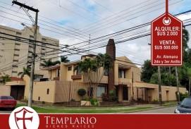 Av. Alemana entre 2do y 3er Anillo Amplia y hermosa casa de 4 Dormitorios Alquiler: 2000$