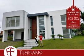 ESPECTACULAR CASA A ESTRENAR  5 Dorm Zona Urubo - Condominio Cerrado ALQUILER: 3.500$US