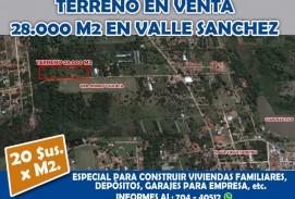 Terreno en Valle Sanchez