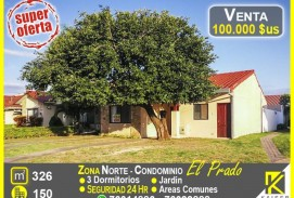 oferta linda casa en condominio zona norte