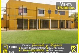 CANCHA Y VIVIENDA DE OCASION