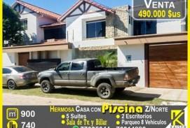 HERMOSA CASA CON PISCINA Y 5 SUITES