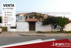 SOBRE AV. ROCA Y CORONADO. CASA DE 4 DORM. VENTA 470.000 $us