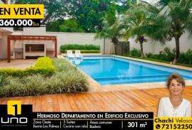 HERMOSO DEPARTAMENTO EN EDIFICIO EN EL BARRIO LAS PALMAS